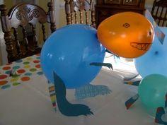 Dinosaur balloon animals - cool!