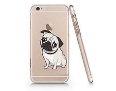 Cute Pug Dog Clear Transparent Plastic Phone Case Phone Cover for Iphone 6 6s_ SUPERTRAMPshop (VAS613.6sl) SUPERTRAMPshop