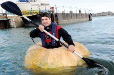A pumpkin Boat