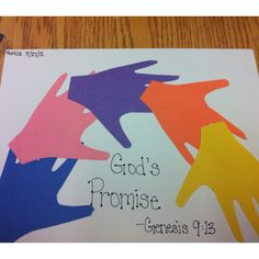 Great idea - get the kids to draw the outline of their own hands. Could be adapted for so many bible stories.