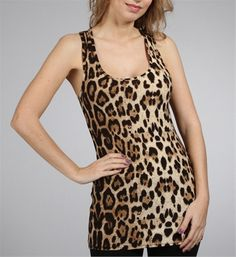 Leopard Print Scoop Neck Tank Top  I think I finally found one!!!
