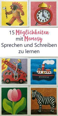 15 Möglichkeiten mit Memory Sprechen und Schreiben zu lernen Sprachförderung