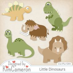 Little Dinosaurs Prehistoric - Layered PSD Templates with PNG by Kim Cameron for Digital Scrapbooking #CUDigitals