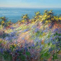 Bluebells, Gorse and Blue Sky, Cornwall