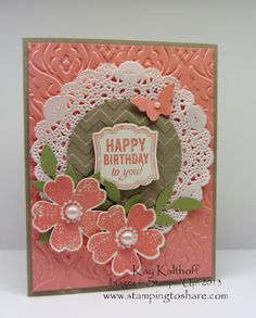 Kay Kalthoff is Stamping to Share with Stampin' Up! Elegant Flower Shop Card with a How To Video Tutorial!