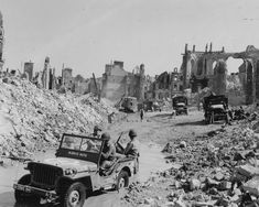 298th Engineers Clear Rubble In Valognes France Normandy 1944