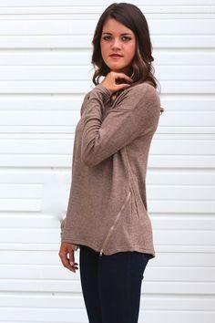 Zip-A-Dee-Do-Dah Sweater {Coffee}