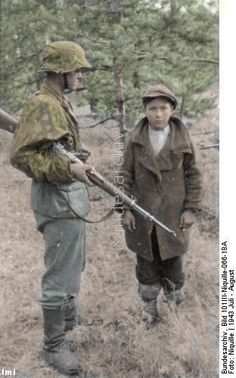 Young partisan captured by SS forces