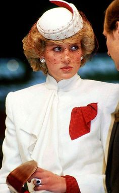 Princess Diana....pretty white suit!