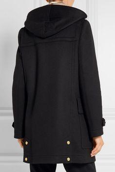 Burberry - Hooded Wool-felt Duffle Coat - Black | Women Outerwear ...