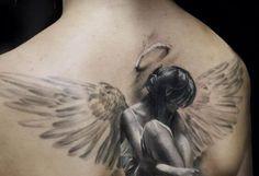 50 Angel Tattoos for Women