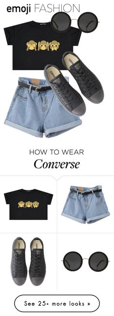 """""""Emoji Fashion #1"""" by hideous on Polyvore featuring Converse and The Row"""