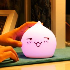 Colorful Waterdrop Emoticon Cartoon Ombre LED Night Light