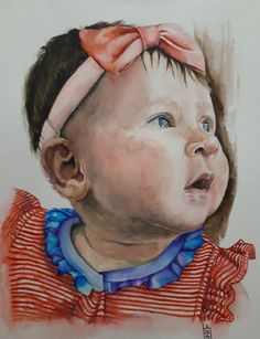 Akvarell festmény Portrait, Statue, Art, Art Background, Headshot Photography, Kunst, Portrait Paintings, Performing Arts, Drawings