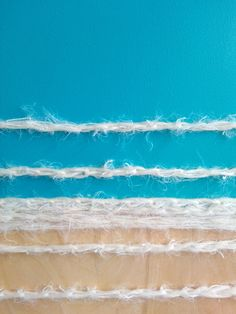 Frances Raboen :: Sea (detail) :: acrylic and wool on birch plywood :: 80x122 :: 2015