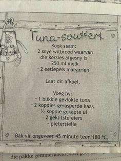 Tuna Recipes, Quiche Recipes, Seafood Recipes, Snack Recipes, Cooking Recipes, Cake Recipes, South African Dishes, South African Recipes, Quiches