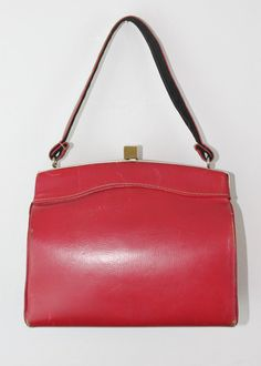 Vintage 1940s box purse  Cherry Darling  40s red by VoyeurVintage, $24.00