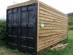 Timber clad ship container