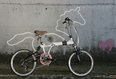 Korean designer Eungi Kim made Horsey. It's an attachable bicycle ornament/accessory which makes one's bicycle look horsey!