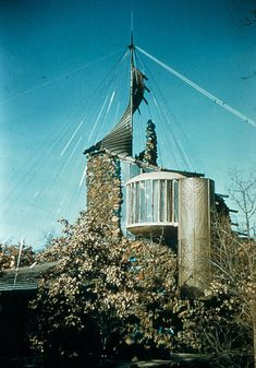 Eugene Bavinger House, Norman, Oklahoma, 1950, Bruce Goff ...been there for a poetry reading and party...