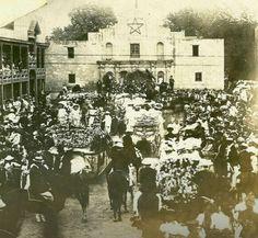 1891 the Alamo, Battle of Flowers Parade, San Antonio, TX