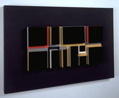 Mary Martin, Black Relief, painted wood, board and plastic, 1957