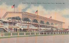 Sent divided back with light corner bumping & toning. Very Fine condition. Baltimore Skyline, Baltimore Maryland, Pimlico Race Track, Horse Racing, Louvre, Corner, Stamp, Travel, Viajes