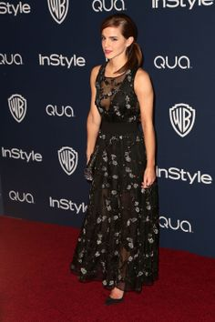Emma Watson & Taylor Swift Annual Warner Bros and InStyle Golden Globe Awards After Party arrivals held at the Oasis Courtyard at the Beverly… Golden Globe Award, Golden Globes, Emma Watson Body, Nathalie Portman, Look Thinner, Haute Couture Dresses, Floor Length Dresses, Women's Fashion Dresses, Dress Up