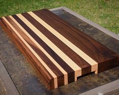 Handmade Custom Cutting Board with Finger Grip - Walnut and Maple Modern Cutting Boards, End Grain Cutting Board, Diy Cutting Board, Custom Cutting Boards, Walnut Bedroom Furniture, Office Furniture, Wood Chess Board, Wood Table Design, Into The Woods