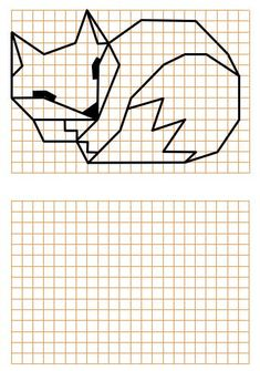 Activité de repli école, géométrie, reproduction sur quadrillage Perspective Drawing Lessons, Graph Paper Art, Blackwork Patterns, Preschool Writing, Coding For Kids, Math Art, Writing Paper, Painting For Kids, Math Games