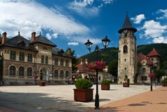 Piatra Neamț [ˈpjatra ˈne̯amt͡s], is the capital city of Neamț County, in the historical region of Moldavia, eastern Romania. Stephen's Tower built in 1499 (foto: on the right). Visit Romania, Tower Building, Central Europe, Eastern Europe, Capital City, European Travel, Places To See, Traveling By Yourself, Around The Worlds