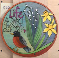 Custom round plaque