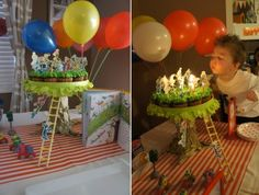 Go Dog Go birthday party. This is probably the cutest birthday party theme I've seen. She did it so well! Lots of great ideas.