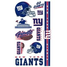 New York Giants Temporary Tattoos by WinCraft. $2.25. Great for tailgate parties and more!. 10 temporary tattoos in a wide variety of shapes and colors. Each set features vibrant team colors and a variety of logos. Easily applied with water and removed with rubbing alcohol. Officially licensed by the National Football League. A 6x9 sheet of officially licensed temporary tattoos. Each tattoo sheet comes with a collection of ten different temporary tattoos. Tattoos ...