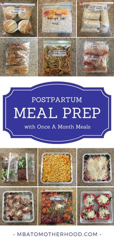 Postpartum meal preparation with Once A Month Meals. Prepare for a newborn baby by preparing postpartum meals for the freezer ahead of time - MBA to Motherhood