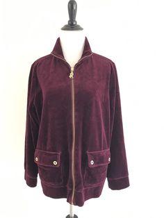 Ralph Lauren 1X XL Plus Size Womens Sweatpants  Two Piece Sweats Outfit Burgundy #RalphLauren #TrackSweat