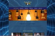 Electrician site developed for residential, commercial, industrial marketing