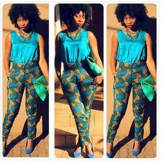 by @sa_girlskillingit (South African Girls Killing It) #africanprint