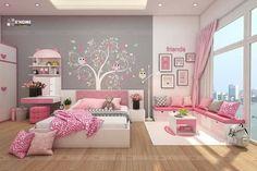 Pink room Little Girl Bedrooms, Girls Bedroom, Bedroom Decor, Kids Bedroom Designs, Kids Room Design, Cool Dorm Rooms, Appartement Design, Cute Room Decor, Toddler Rooms