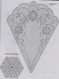 grille de napperon carré avec