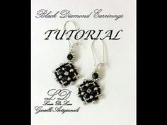 ▶ TUTORIAL ORECCHINI BLACK DIAMOND - YouTube