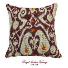 """Maroon Cushion Cover DIY Home Decor 16"""" Indian Craft PL41"""