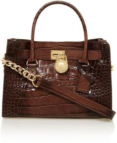 Michael Kors Hamilton Brown Cross Body Bag in Brown | Lyst