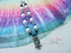 The Blue Owl Vintage Bubblegum Necklace by LittleDivaBubblegum, $24.00