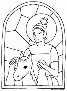 Výsledek obrázku pro už martin na bílém koni text Autumn Crafts, Fall Crafts For Kids, Hl Martin, Coloring For Kids, Coloring Pages, Jesus Is Life, Crafty Craft, Animal Drawings, Martini