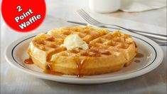 WEIGHT WATCHERS FREESTYLE ~ 2 POINT Waffle Low Carb - YouTube