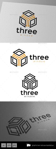 Buy Three Window Cube Logo by barkfellow on GraphicRiver. Three Window Cube Logo - 3 files AI CS EPS 10 JPG - CMYK print ready - Re-sizable - Editable text - Easy color. Logo Branding, Branding Design, Logos, Three Logo, Portfolio Logo, Cube Design, School Logo, Abstract Logo, Logo
