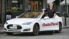 TESLA Taxi Oslo - Norway. Sept. 2013