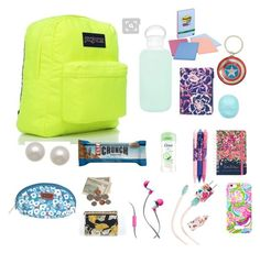 Backpack essentials by lululuminous on Polyvore featuring polyvore and art