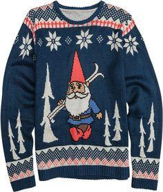 Toddland Gnome Chomski sweater. http://www.swell.com/New-Arrivals-Mens/TODDLAND-GNOME-CHOMSKI-SWEATER?cs=NV